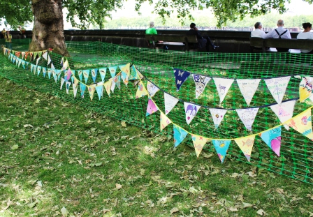 Rows of bunting from West Oxford