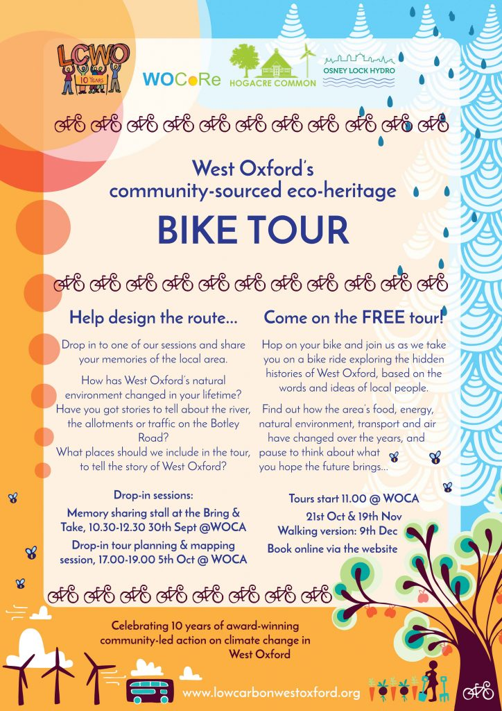 West Oxford's community-sourced eco-heritage bike tour @ West Oxford Community Centre (WOCA)