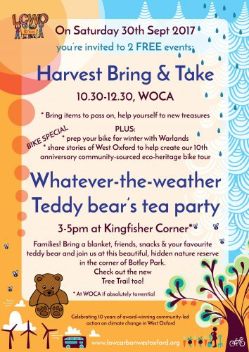 Whatever-the-weather family-friendly teddy bear's tea party @ Kingfisher Corner, Botley Park (or WOCA if torrential!)