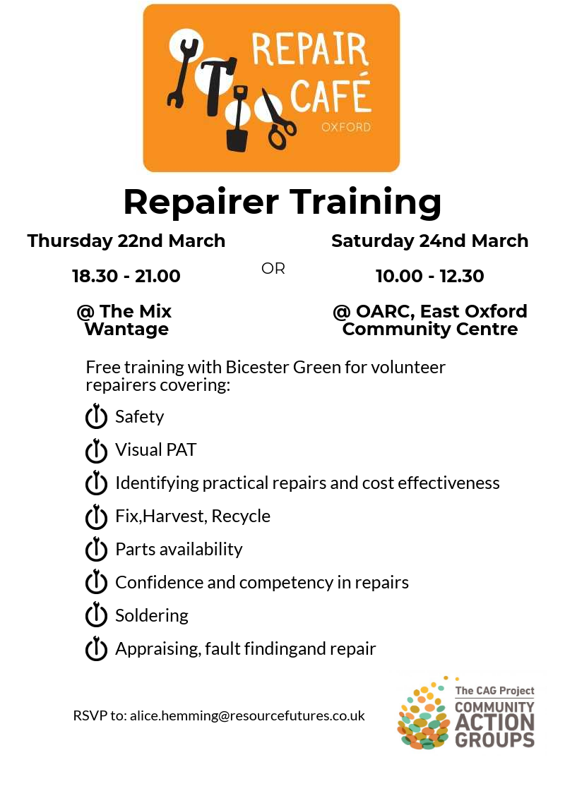 Repairer Training @ The Mix
